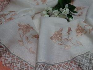 Коллекция столового белья с Романтическими розами. Ярмарка Мастеров - ручная работа, handmade.