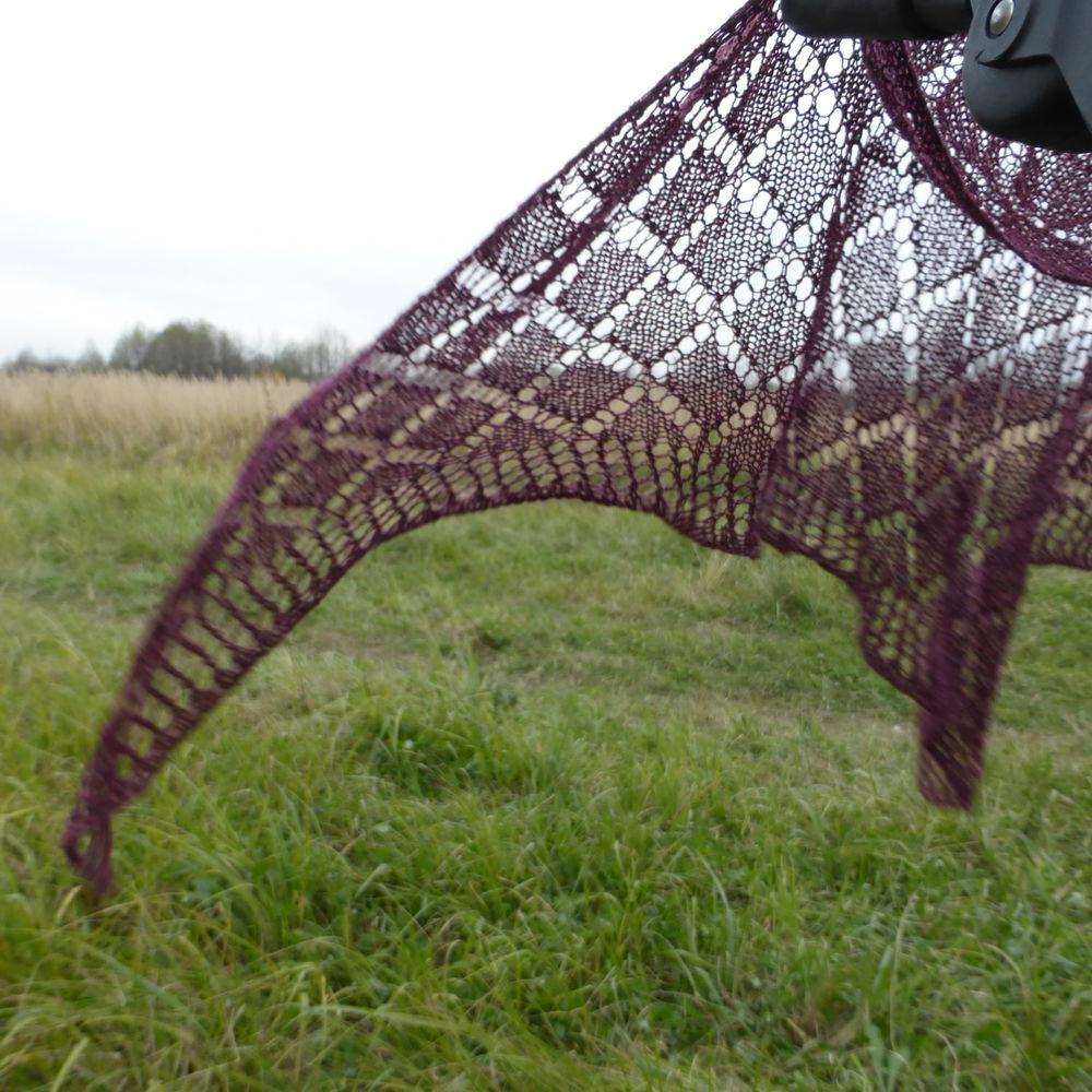 вязаная шелковая шаль