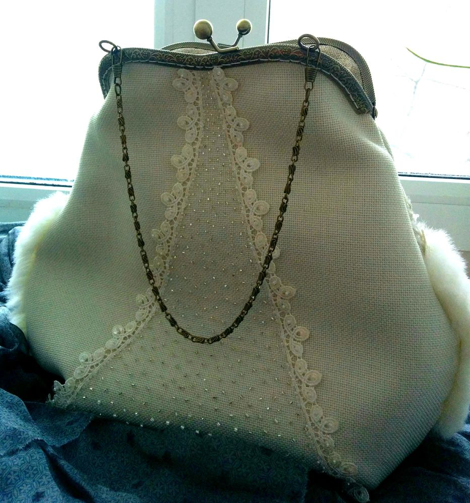винтажная сумка, сумочка на фермуаре