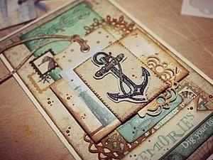 Creating Nautical Postcards in the Scrapbook Technique. Livemaster - handmade