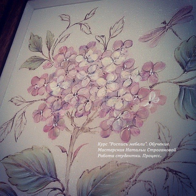 обучение росписи, курсы роспись мебели, курсы росписи мебели, расписная мебель, строганова наталья