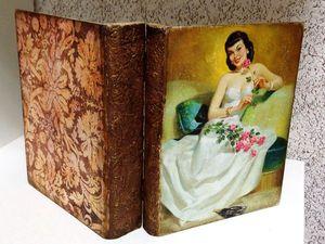 Шкатулка-книга  декупаж, имитационные техники | Ярмарка Мастеров - ручная работа, handmade
