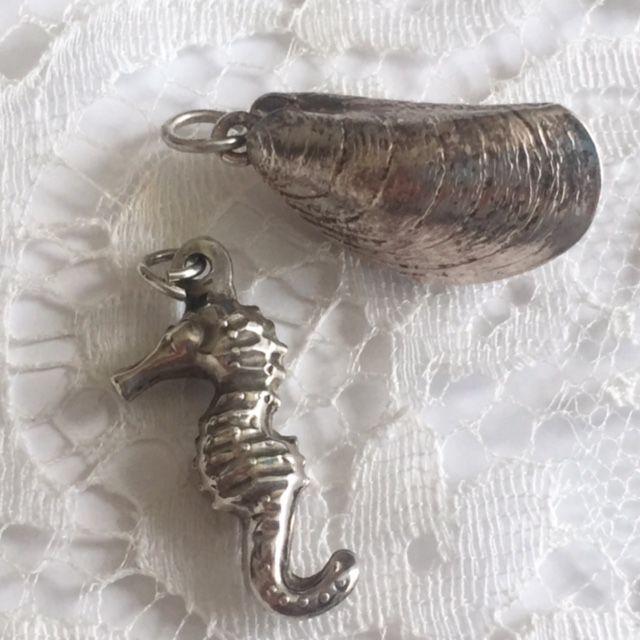 серебряный браслет, кулон