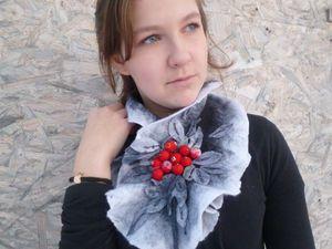 Конкурсная работа Зимняя рябина | Ярмарка Мастеров - ручная работа, handmade