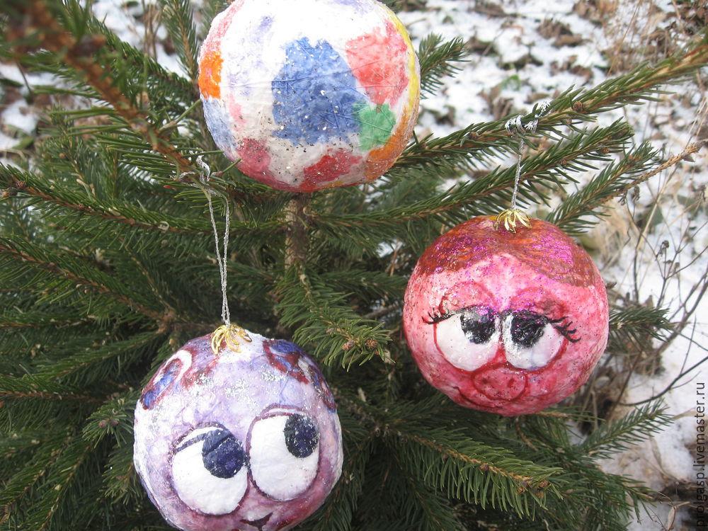 Делаем вместе с детьми ватные ёлочные шарики, фото № 7