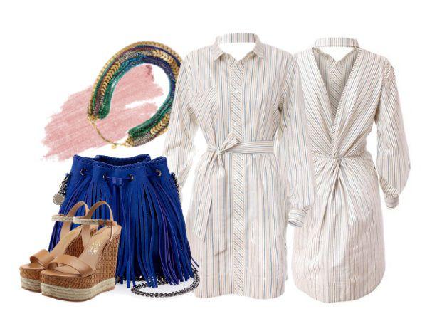 полосатый, бежевый, дизайнерская одежда, хлопок 100%, классический стиль