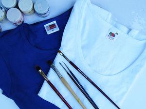 Любителям ручной росписи — 2 футболочки за 2200 с доставкой). Ярмарка Мастеров - ручная работа, handmade.