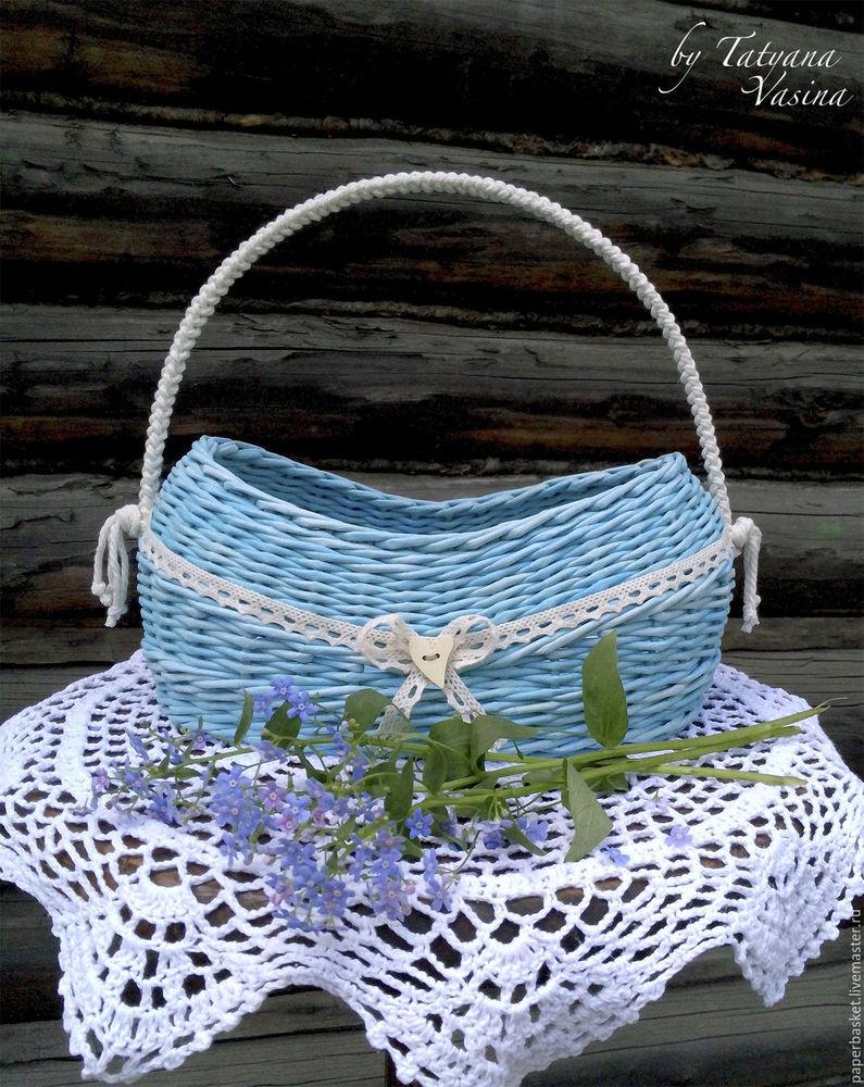 незабудки, корзина, голубой, деревенский, для дачи, кантри