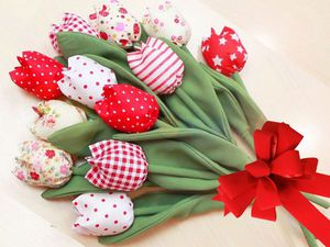 Video DIY: Sewing Flowers from Fabric, Tulips for Any Occasion. Livemaster - handmade