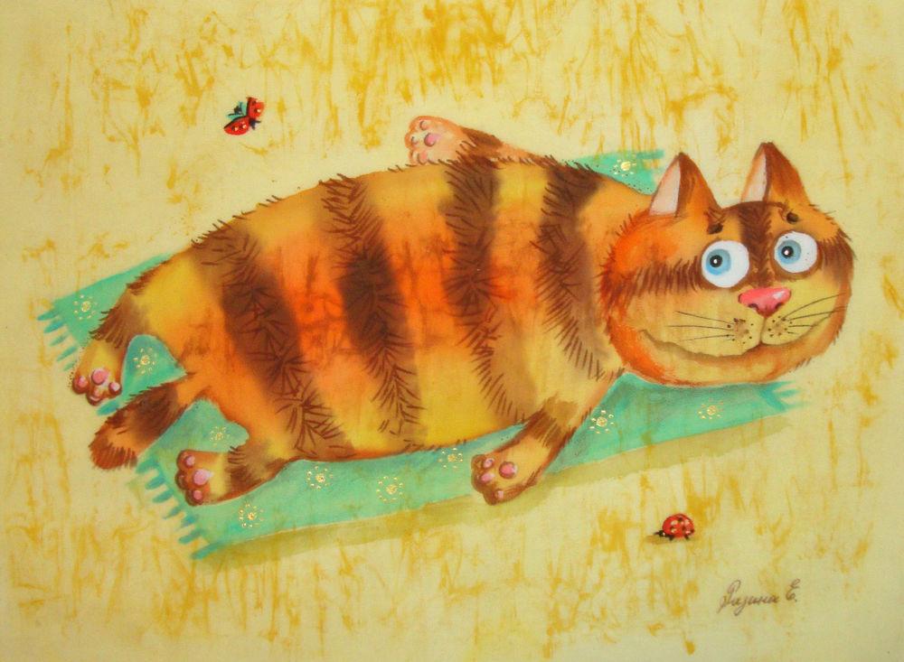 Рисунки рыжих котов смешные