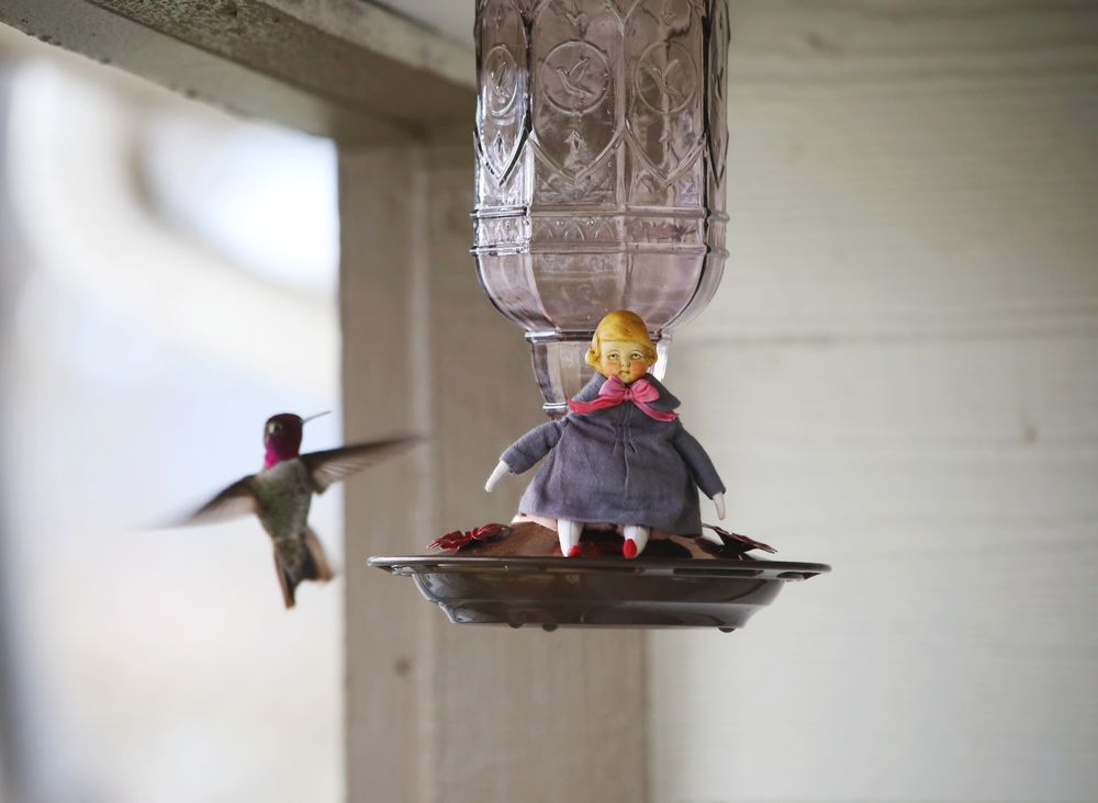 колибри, подарок своими руками