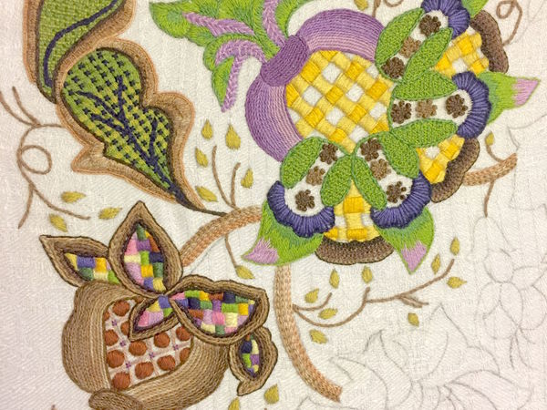 Якобинская вышивка: терпение и труд все перетрут | Ярмарка Мастеров - ручная работа, handmade