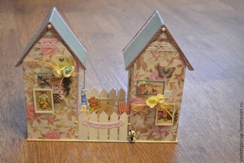 Мастер-класс: изготавливаем дуэт из чайных домиков с конфетницей, фото № 18