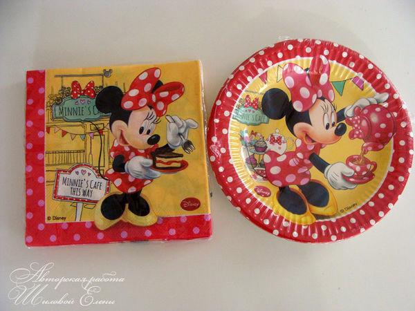 одноразовая посуда для детского праздника | Ярмарка Мастеров - ручная работа, handmade