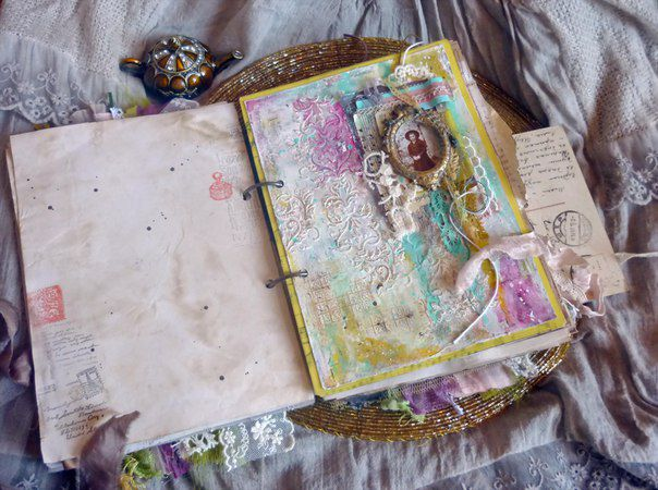 винтажный арт-блокнот, блокнот с нуля, онлайн мастер-класс
