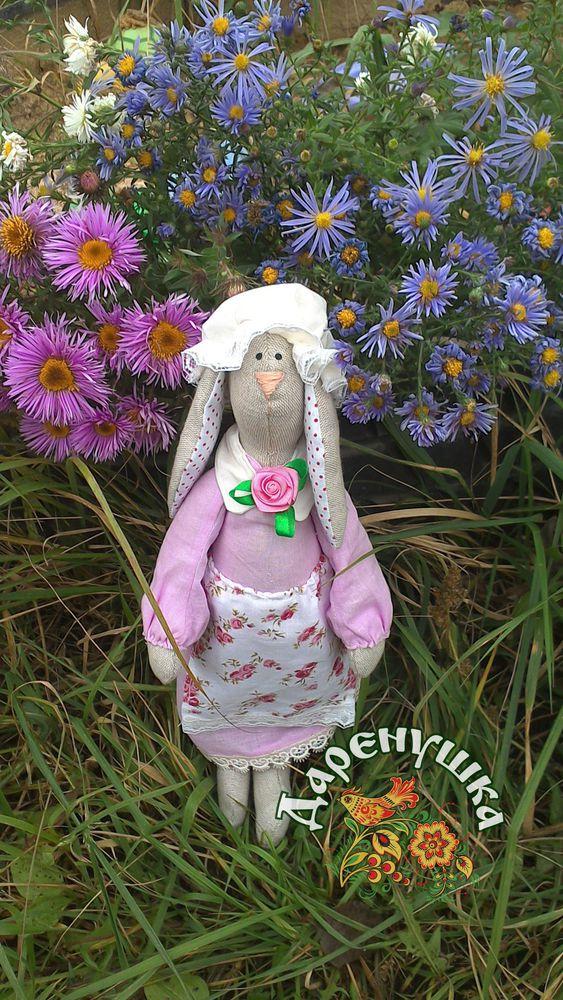 зайка, розовый, текстильная кукла, интерьерные куклы, подарок