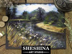 Видеоурок: рисуем быстрый этюд осеннего пейзажа сухой пастелью. Ярмарка Мастеров - ручная работа, handmade.