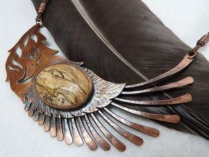 Процесс изготовления колье, или Как из верблюда сделать орла, а из пустыни — горы. Часть 2. Ярмарка Мастеров - ручная работа, handmade.