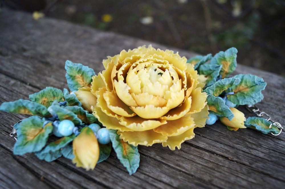 мастер-класс, цветы из полимерной глины, лепка из полимерной глины, украшения