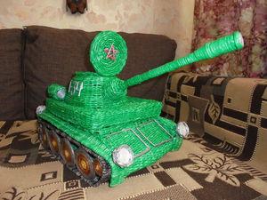 Видеоурок по плетению танка из бумажной лозы. Часть 3. Ярмарка Мастеров - ручная работа, handmade.