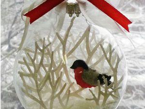 Создаем ёлочный шар «Снегирь». Ярмарка Мастеров - ручная работа, handmade.