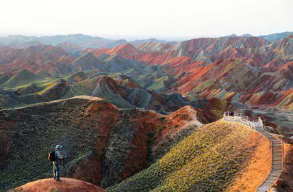 Разноцветные горы Чжанъе