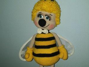 Вяжем интерьерную игрушку «Дружелюбный Пчёл». Ярмарка Мастеров - ручная работа, handmade.