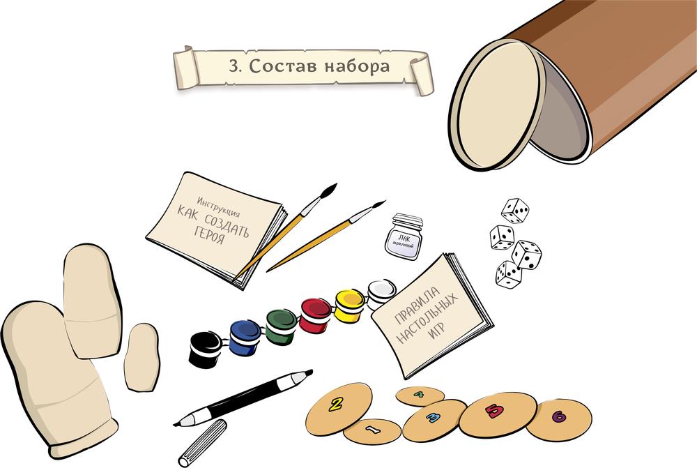 персонажи, герой, краски, набор, сувенир