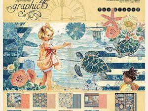Новинка — Набор бумаги Graphic 45 sun kissed 8 листов. Ярмарка Мастеров - ручная работа, handmade.