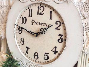 Декорируем часы «Прованс» в стиле шебби-шик. Ярмарка Мастеров - ручная работа, handmade.