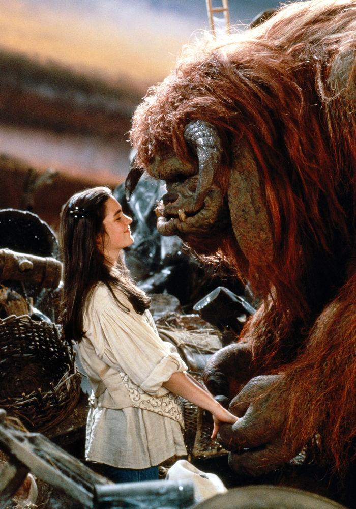 дэвид боуи, фильм лабирин, дженнифер коннели, сказка, тролль, принцесса, королева
