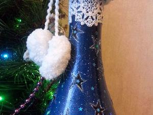 Оформление бутылки шампанского с использованием светового эффекта. Ярмарка Мастеров - ручная работа, handmade.