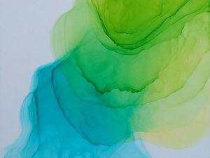 Делаем плавный переход цвета в технике алкогольных чернил. Ярмарка Мастеров - ручная работа, handmade.