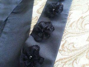 Видеообзор — черный пояс из шелка — Ночной цветок. Ярмарка Мастеров - ручная работа, handmade.