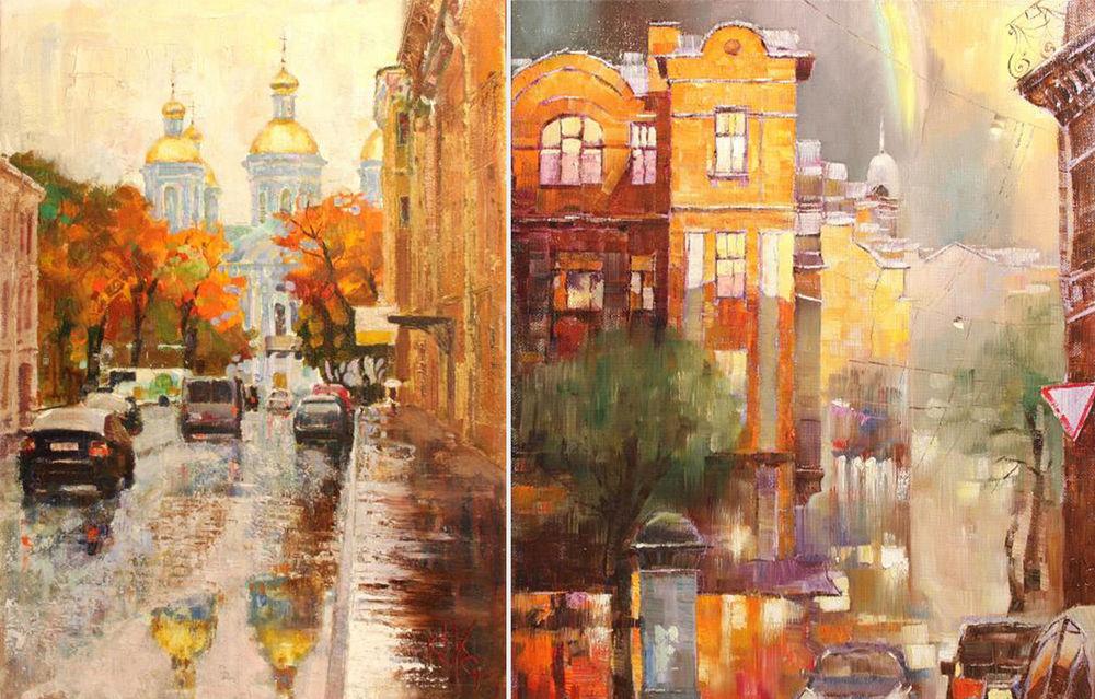 Konstantin Sukhopluev: Artist Painting Rain, фото № 14