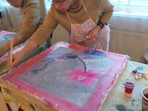 Отчет с мастер-класса по холодному батику. | Ярмарка Мастеров - ручная работа, handmade
