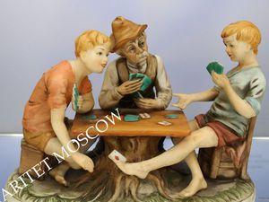 Картежники игра в карты Каподимонте Италия 1 | Ярмарка Мастеров - ручная работа, handmade