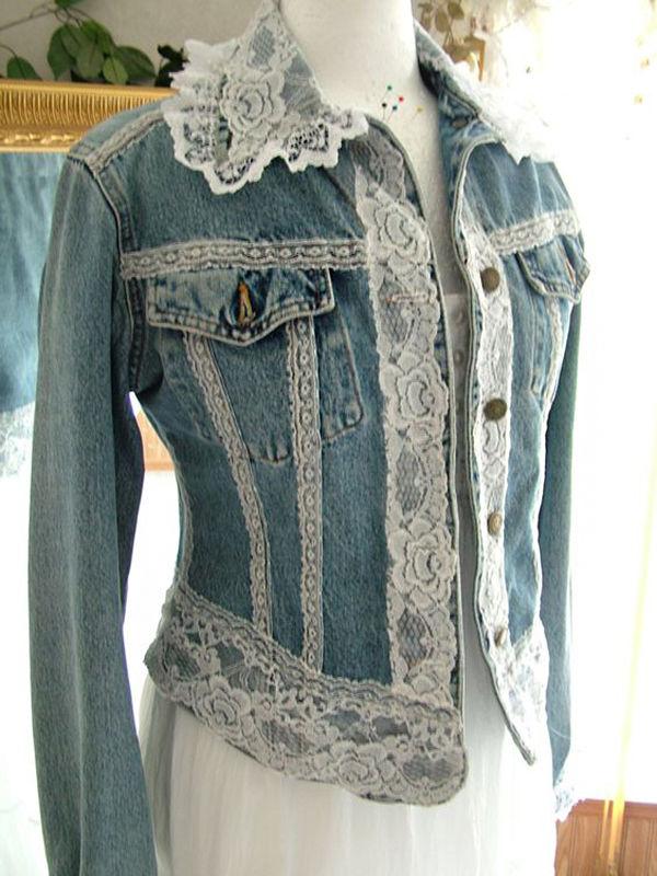 Многообразный декор джинсовых курток: 50 интересных вариантов, фото № 20