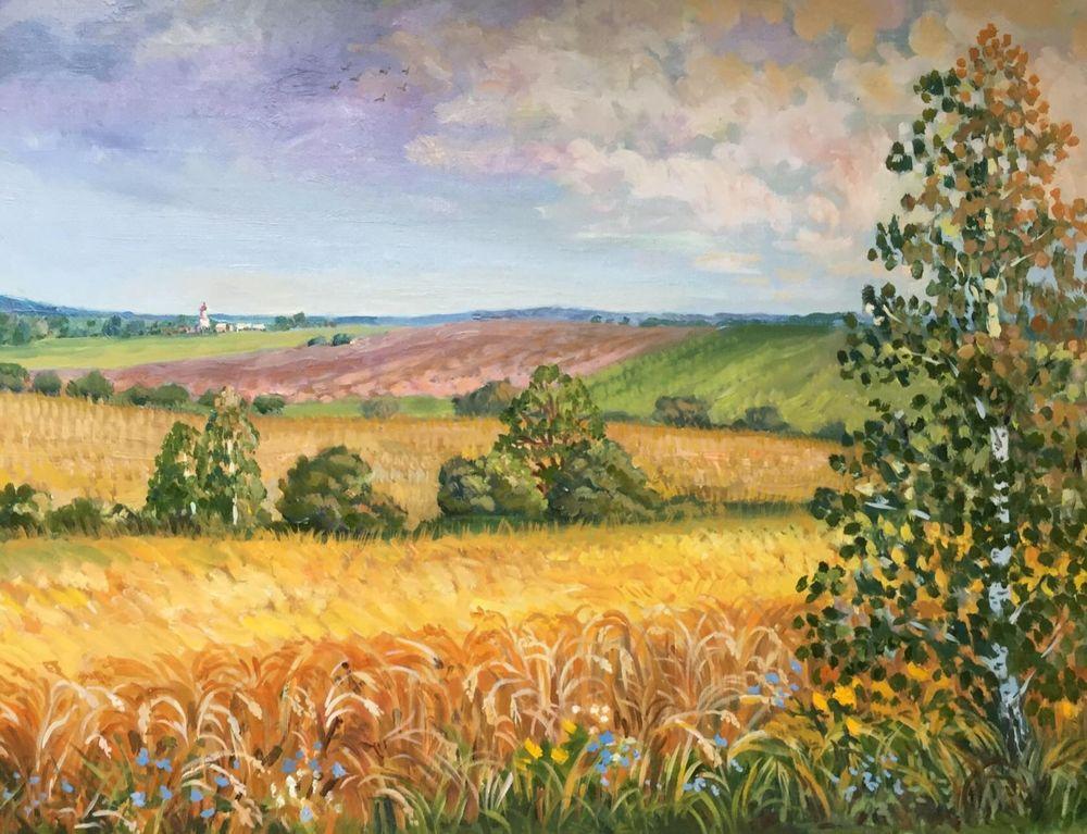 картина пейзаж, русский пейзаж
