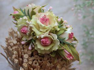 Создаем цветочную  заколку из фоамирана. Ярмарка Мастеров - ручная работа, handmade.