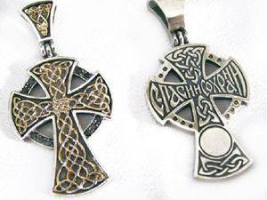 Новинка! Новгородский крест с золотыми узорами! | Ярмарка Мастеров - ручная работа, handmade