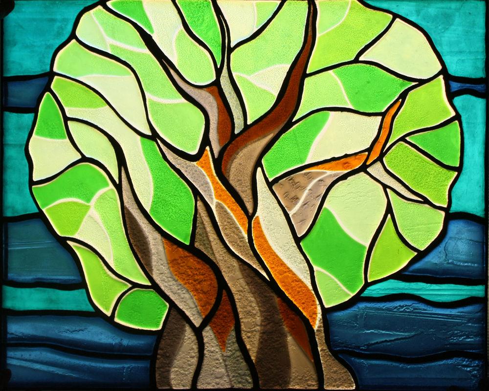 витражное дерево, стекольная мастерская