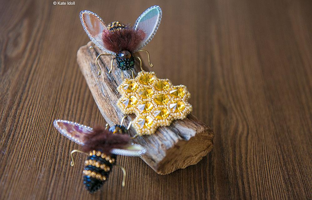 Вышиваем бисером оригинальную брошь «Пчела», фото № 1