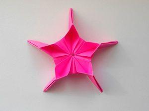 Собираем звезду из бумаги в технике оригами. Ярмарка Мастеров - ручная работа, handmade.