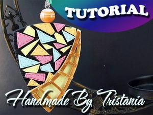 Видеоурок: делаем геометрический кулон из полимерной глины. Ярмарка Мастеров - ручная работа, handmade.