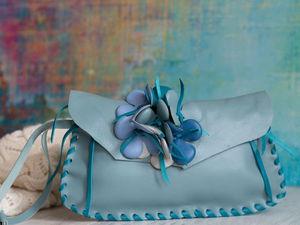 Шьем клатч из кожи с цветочками. | Ярмарка Мастеров - ручная работа, handmade