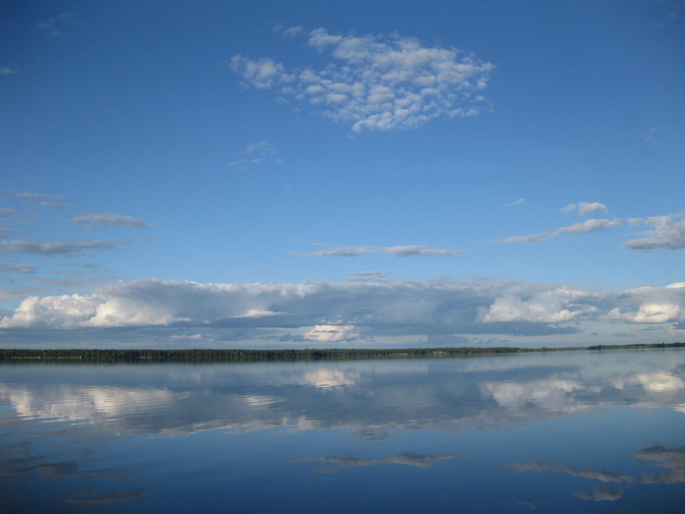 озеро селигер, вечер на селигере