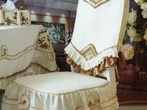 Модные чехлы на стулья в предверии Нового года. Ярмарка Мастеров - ручная работа, handmade.