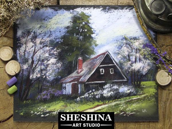 Рисуем деревенский пейзаж. Ярмарка Мастеров - ручная работа, handmade.