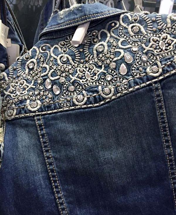 Многообразный декор джинсовых курток: 50 интересных вариантов, фото № 26
